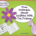 Free Printable Sweet Addition With Ten Frames