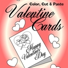 Free Printable Valentine Coloring Cards:  Color, Cut and P