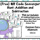 {Free} QR Code Addition and Subtraction Scavenger Hunt