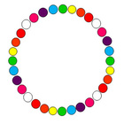 Free Rainbow Circle Clip Art Frame