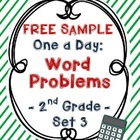 {Free Sample} One A Day: Word Problems for 2nd Grade (3rd