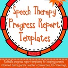 {Free} Speech Therapy Progress Report Template {editable P