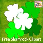 Free St. Patrick's Day Shamrock Clipart Set