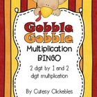 Free- Thanksgiving Gobble BINGO board for Multiplication