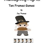 Free Thanksgiving Math - Pilgrim Ten Frames Games