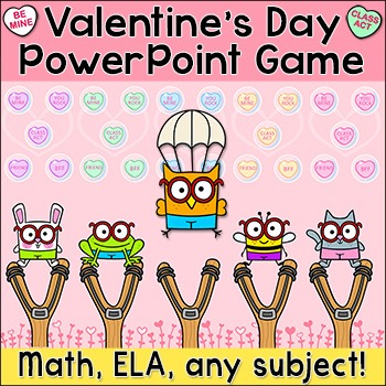Free Valentine's Day Pop and Drop Interactive PowerPoint Game for any Subject