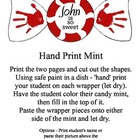 Free Winter Holiday Craft - Hand Print Mint - for Preschoo