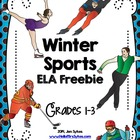 Free Winter Sports Word Work
