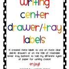 Free Writing Center Drawer/Paper Tray Lables