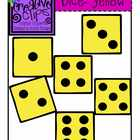 {Free} Yellow Dice Clipart {Creative Clips Digital Clipart}