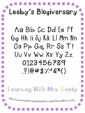 Free font for personal and commercial use - Leeby's Blogiversary