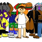 Boys with clothes for all seasons clip art by Charlotte's Clips