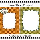 Freebie - 2 Striped Doodle Frames with Coordinating Papers