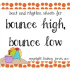 {Freebie} Bounce High, Bounce Low Beat and Rhythm Charts