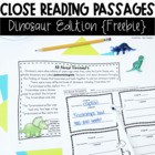 Close Reading Passages: Dinosaur Edition {Freebie}