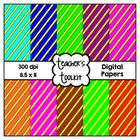 {Freebie} Diagonal Stripes Digital Background Papers
