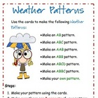 Freebie - Math Weather Patterns activity and recording sheet