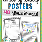 *Freebie* Unit of Study Genre Posters in Color and B&W!
