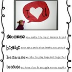Freebie Valentine Speech Bubble Note
