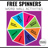 Freebie Word Wall Spinners