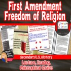 Freedom of Religion (1st Amendment) Lecture & Activities