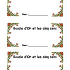 French Activity book Boucle d'or & Les 5 sens (Notebook st
