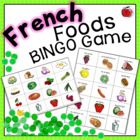 French  Bingo Game - Foods