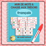 French Classroom Vocabulary - Word Wall & Scavenger Hunt -