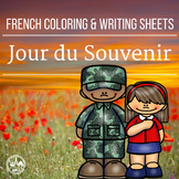 French Coloring & Writing Remembrance / Veterans Day Mini Pack