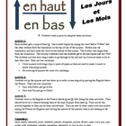 French Days/Months Partner Activities (Speak, Read, Listen