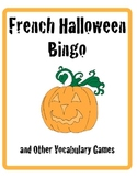 French Halloween Bingo and Other Vocabulary Games
