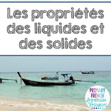 French - States of matter unit - Les solides, les liquides