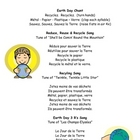 French Songs and Chants for Earth Day:  Printable Handout
