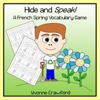 French Spring Vocabulary - Hide and Speak Game