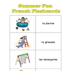French Summer Fun Flash Cards