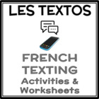 French Texting Activity - Les textos