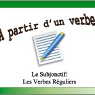 French Verb Form Practice with Sentences: Subjunctive, Reg