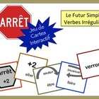 French Verb Review Card Game with Speaking: Simple Future,
