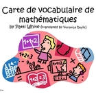 French Version of Math Vocabulary Freebie