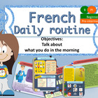 French daily routine in the morning for beginners, ma rout