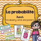 French math Probability word wall bulletin board vocabulary cards