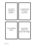 French reading comprehension game - Jeu de lecture pour ta