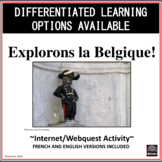 French/English – Belgium Webquest – Explorons la Belgique!