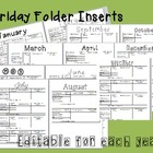 Friday Folder weekly behavior inserts