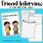 Friend Interview Writing Packet