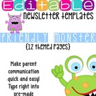 Newsletter Templates (12 included): Friendly Monster Theme