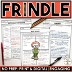 """Frindle"" MEGA Activity Packet: A Novel Study of the book"
