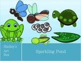 CLIPART: Frog Cycle Graphics: Sparkling Pond by Shelley's Art Box