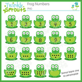 Frog Numbers Clipart