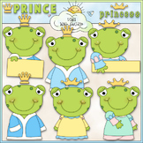 Frog Prince & Princess 1 - Commercial Use Clip Art & Black